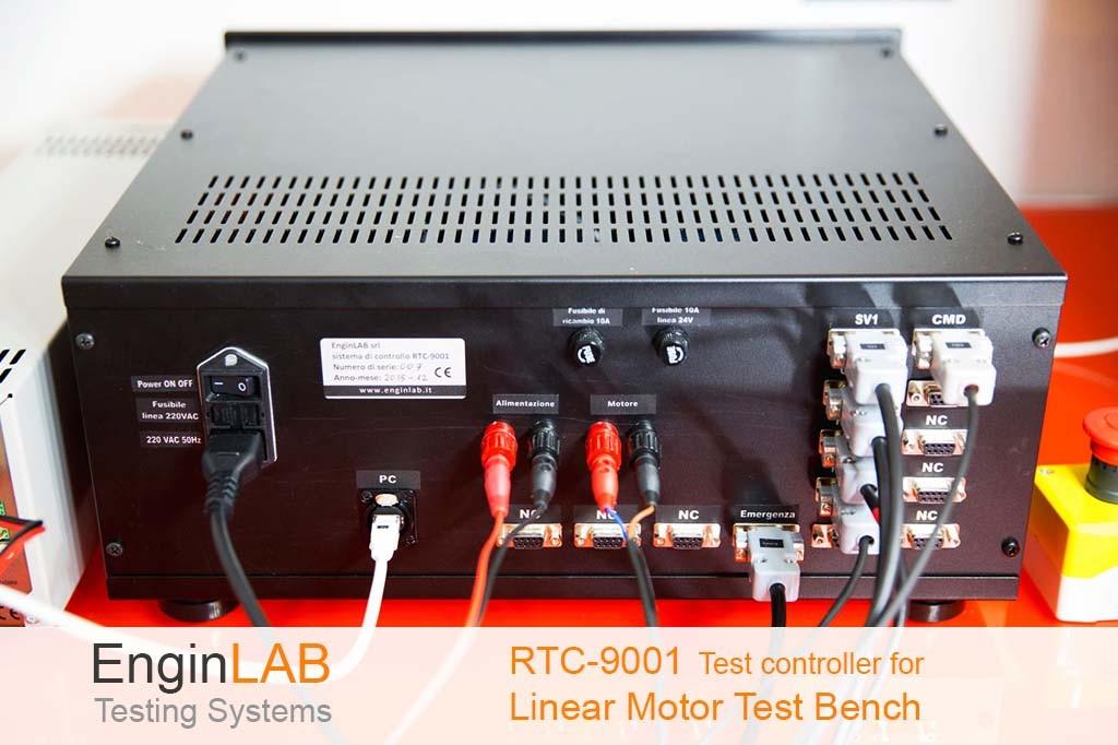 Controllore per banco test di motori lineari a corrente continua